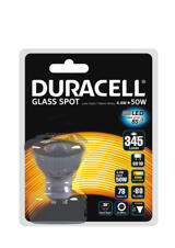Duracell GU10 Glass Spot, 4.4W/50W
