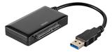 """DELTACO USB 3.0 till SATA 6Gb/s adapter, för 2,5"""" och 3,5"""" hårddiskar, svart"""
