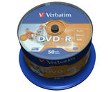 Verbatim DVD-R 16x, printable, No ID Brand, 50 pack