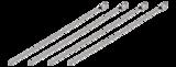 DELTACO buntband i rostfritt stål, 150mm, 20-pack, max 65kg