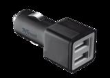 TRUST Billaddare med 2 USB-portar 2x12W