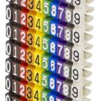 Deltaco Kabelmärkning, 10 numrerade märkningar i olika färger, max 2,5mm i diameter