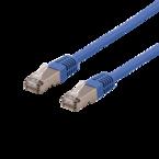 Deltaco U/FTP Cat6a patchkabel, LSZH, 0,3m, blå