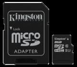 Kingston minneskort, UHS-I microSDHC, Class 10, 8GB