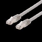 Deltaco U/FTP Cat6a patchkabel, LSZH, 0,3m, grå