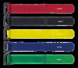 Deltaco kardborrband med plastspänne, bredd  20mm, 28cm, 10-pack, röd/gul/blå/grön/svart