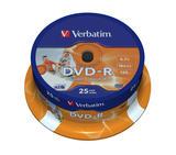 Verbatim DVD-R 16x, printable, 25 pack