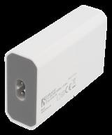 Deltaco USB-laddningsstation, 8A, 1xUSB-C ho, 3xUSB Typ A ho, 100-240V till 5V USB, 1,1m, vit