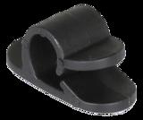 Deltaco självhäftande kabelklämma i plast, innerdiamater 12mm, 6-pack, svart