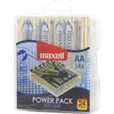 Maxell Power Pack Alkaline batterier, LR6 (AA), 1,5V, 24-pack