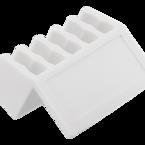 Deltaco självhäftande kabelhållare i plast, 5 platser, 8mm, 2-pack, vit