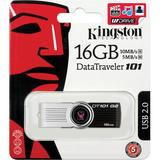 Kingston USB 2.0 minne, DataTraveler 101 Generation 2, vridbar, 16GB, svart