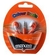 Maxell Colour Budz öronsnäckor, 1,2m kabel, orange