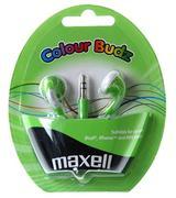 Maxell Colour Budz öronsnäckor, 1,2m kabel, grön