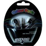 Maxell Colour Budz öronsnäckor, 1,2m kabel, svart