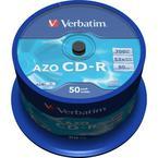 Verbatim CD-R 52x, datalifeplus crystal, 50-pack