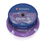 Verbatim DVD+R 16x, 25 pack