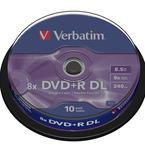 Verbatim DVD+R 8x, Double Layer, 10 pack