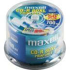 Maxell CD-R Printable 52x, spindel, 50-pack