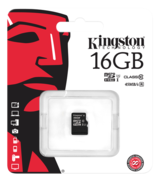 Kingston minneskort, UHS-I microSDHC, Class 10, 16GB