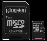 Kingston minneskort, UHS-I microSDXC, Class 10, 64GB