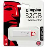 Kingston DataTraveler G4, USB 3.0 minne, 32GB, vit/röd