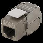 "Deltaco  FTP Cat6a Keystone kontaktdon, skärmad, 22-26AWG, ""Tool-free"""