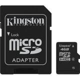 Kingston minneskort, microSDHC, 4GB