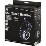 DELTACO headset, sluten, 32 Ohm, aktiv basvibration