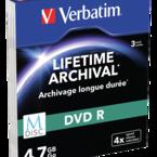 Verbatim - M-Disc DVD-R 4x, printable, 3-pack slim case