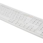 Deltaco Tangentbord, nordisk layout, USB, 1,1m kabel, vit