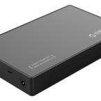 "ORICO externt kabinett för 1x3,5"" SATA-hårddisk, USB Typ C, SATA 6 Gb/s, svart"