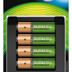 Duracell batteriladdare inklusive 4xladdningsbara AA (LR06) Ni-MH 1300mAh 1,2V batterier