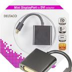 Deltaco mini DisplayPort till DVI-D Single Link adapter
