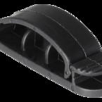 Deltaco självhäftande kabelklämma i plast, 3 platser, 3-pack, svart