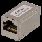 Deltaco skarvdon CAT6a, FTP (skärmad), hona-hona, silver