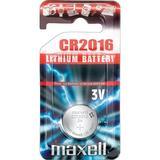 Maxell knappcellsbatteri, CR2016, Lithium, 3V, 1-pack