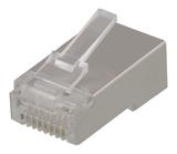 Deltaco RJ45 kontaktdon för patchkabel, Cat6, skärmad, insats ingår, 20-pack