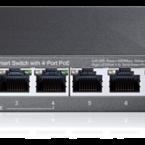 TP-Link 8-port Gigabit Easy Smart Switch, PoE 55W, 802.3af, metall, svar