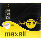 Maxell CD-R 52x, printable, slim case, 10-pack