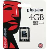 Kingston minneskort, microSDHC, 4GB