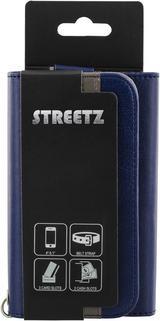 """STREETZ plånboksfodral för 4-5,1""""-smartphones, konstläder"""