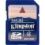 Kingston minneskort, SDHC, Class 4, 16GB