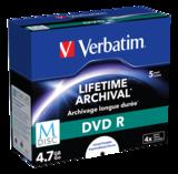 Verbatim - M-Disc DVD-R 4x, printable, 5-pack jewelcase