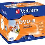 Verbatim DVD-R 16x, Inkjet Printable, 10 pack