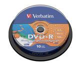 Verbatim vattenavvisande DVD-R 16x, printable, 10 pack