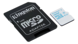 Kingston UHS-I U3, microSDHC-kort, Class 10, 16GB