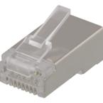 Deltaco RJ45 kontaktdon för patchkabel, Cat6a, skärmad, insats ingår, 20-pack