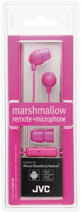 JVC HA-FR37-P-E Marshmallow in-ear remote + microphone Pink