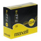 Maxell CD-R 52x, slim case, 10-pack